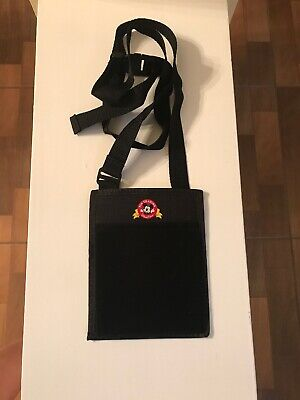 Walt Disney World Parks Official Pin Trading Lanyard & Pouch Black!!!!
