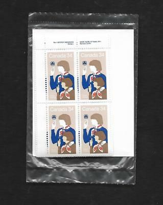 pk48481:Stamps-Canada PO Pak #1062 Girl Guides 34 ct Plate Block Set-MNH