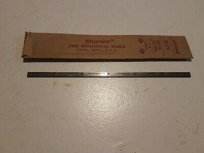 "NOS Starrett No H610N Spring Tempered 6"" Hook Rule No. 10 Grauation 32nds 64ths"
