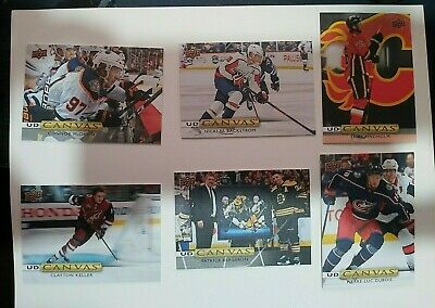 Upper Deck 2019-20 - Series 1 Canvas - Lot of 6 (McDavid,BACKSTROM