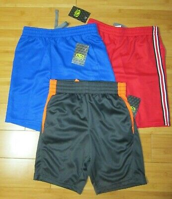 New LOT of 3 pairs BOY S small 6-7 athletic basketball shorts