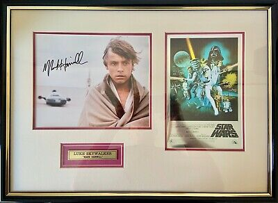 Mark Hamill Signed Collectable, Star Wars Episode IV, Framed Photo 580mm x 425mm