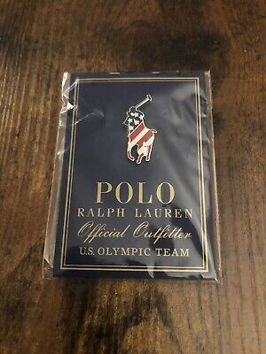 Polo Ralph Lauren Lapel Pin USA Olympics American Flag Colors Red White & Blue