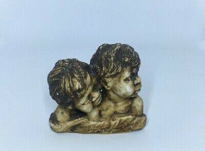 Vintage Pat Elvins E & M Australian pottery Aboriginal Bust of children signed
