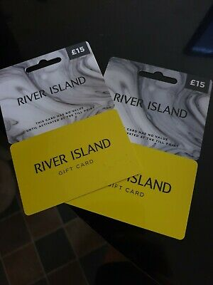 £30 River Island Gift Card 2x £15 cards