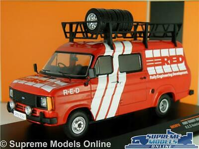 Ford Transit Mk2 Van Model Red Rally Support Vehicle 1:43 Ixo Mark Two Rac281X T