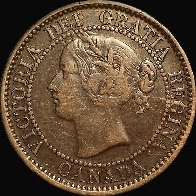 "1859 Queen Victoria Large Canadian Cent   Haxby PC59-156 45b+K2    ""HAVE A LOOK"""