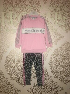 Adidas Baby Girls Tracksuit Age 18-24 SEE DESCRIPTION next P&p