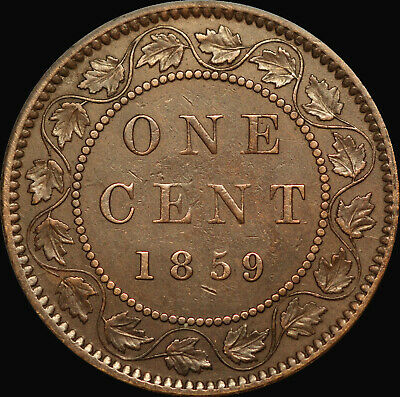 1859 Low 9 Queen Victoria Large Canadian Cent   Haxby PC59-157 45c+J4  !!!!!!!!