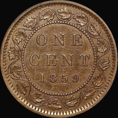 "1859 Queen Victoria Large Canadian Cent   ""Haxby PC59-149 45a+K2"