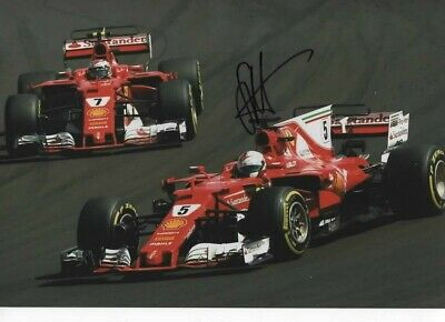 Sebastian Vettel signed photograph FORMULA 1 Budapest GP 2017 + proof