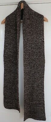 Mens Warm Brown Fleck Winter Scarf - VGC