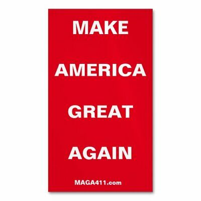 """5 each MAKE AMERICA GREAT AGAIN and KEEP AMERICA GREAT 2"""" x 3.5"""" magnetic cards"""