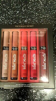 victoria secret velvet matte 5 colour cream lip stain gift set RRP £59.99