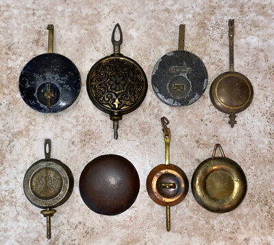 Lot Of 8 Early Antique Clock Pendulums **Must See!**