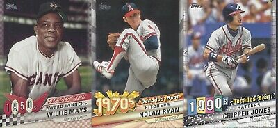 2020 TOPPS SERIES 1 BASEBALL  Decades' Best  U-PICK COMPLETE YOUR SET
