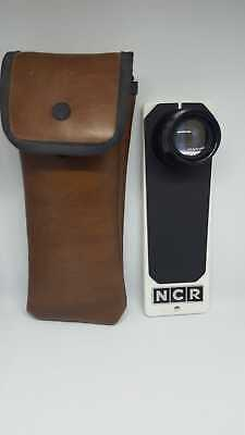 Vintage NCR 456113 Hand Microfiche Microfilm Stamp Viewer & Case Made In USA