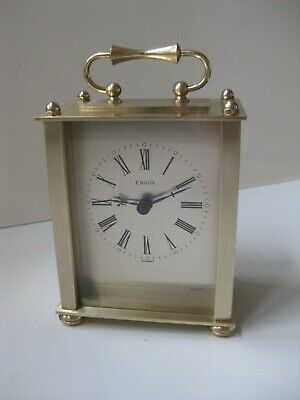 Heavy QUARTZ BRASS CASED CARRIAGE CLOCK. Made by 'ENVOY' of Germany