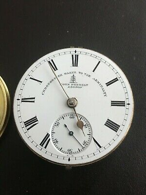 Fusee chronometer pocket watch movement by JOHN FORREST