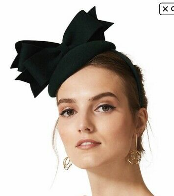 Phase Eight green felt bow Fascinator.
