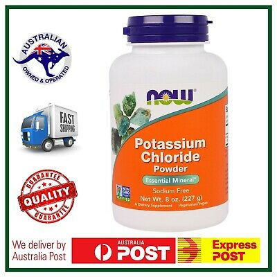 Potassium Chloride Powder 8oz (227g) by NOW Foods - PURE ESSENTIAL MINERAL #32