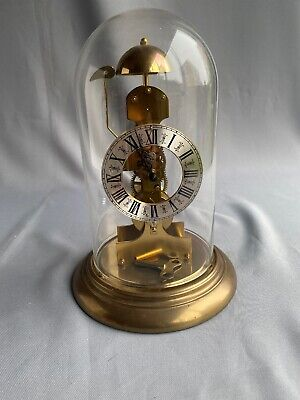 Mechanical Anniversary Clock Glass Dome