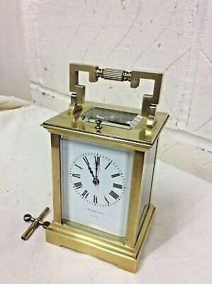 SUPERB FRENCH REPEATER 8 day CARRAIGE CLOCK of LARGE PROPORTIONS in VGC.