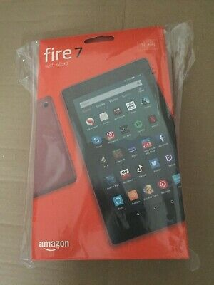 Fire 7 Amazon Kindle Tablet with Alexa 16 GB PLUM 9th Gen (2019) UK Model Sealed