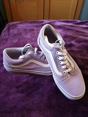 Vans Sidestripe Old Skool Trainers Purple Lilac Classic Stripe uk 5