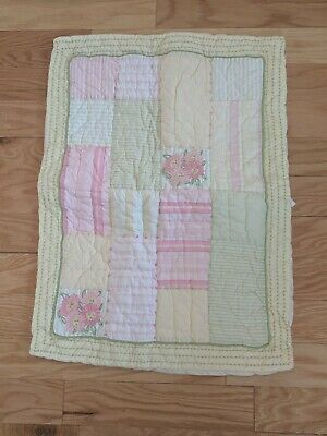 1 Pottery Barn Kids PB Pillow Case SHAM Patchwork Girls Floral Stripes Pastels