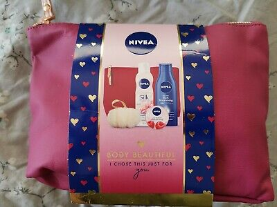 Nivea Body Beautiful 4pc Gift Set with Cosmetic Bag