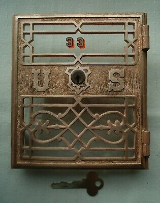 Post Office Box Door Postal Antique Yale Grill Door Size Two