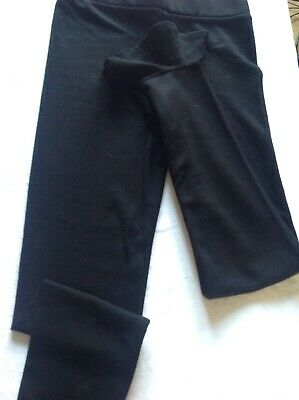 Amazing Girls Black Leggings With Ankle Detail Age 9/10 Bnwt