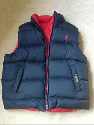 POLO BY RALPH LAUREN  Padded Double sided Sleeveless Jacket, AGE 13-15, SIZE L