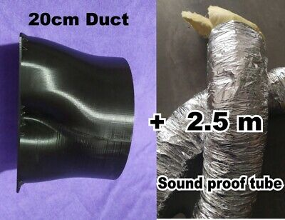 DUCT 200mm KIT Antminer S17 T17, SOUND FROOF TUBE 200mm 2.5m  DUAL FAN MINER