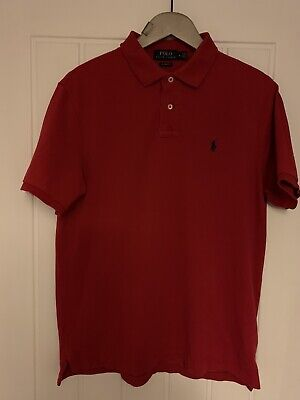 Genuine Red Polo Ralph Lauren Mens Polo Shirt Classic Fit Size Medium