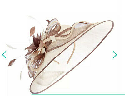 Debut Brown Two Tone Saucer Fascinator