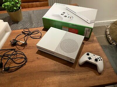 Microsoft Xbox One S 3 1TB White Console With Two Controllers