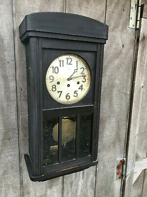 Antique Junghans Westminster Chime Clock Tested Sounds Nice FB14