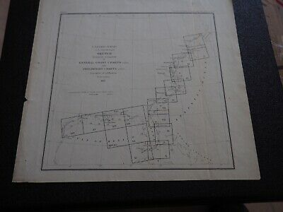 """Antique Map """"Sketch showing the arangement of General Coast Charts and Premil"""