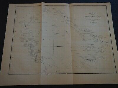 """Antique Map """"Map of the Sooloo Sea and Archipelago by the Us. Ex. Ex. 1842"""""""