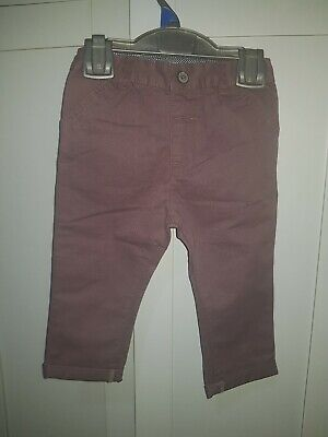 River Island Mini Boys Plum Chino Trousers 12-18