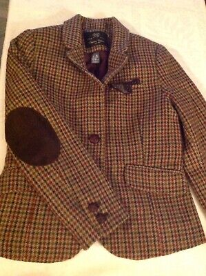 Lovely Girls Check Wool Zara Hacking Jacket Age 7/8 Ex Condition