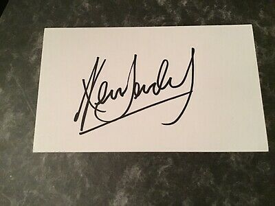 Ken Doherty Snooker Champion hand signed card