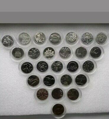 2018 Best Of British 10p Full Set A -Z, Uncirculated from Sealed Bag with capsul