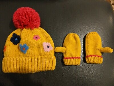 Mustard Bobble Hat And Mittens Set - 3-4 - Next