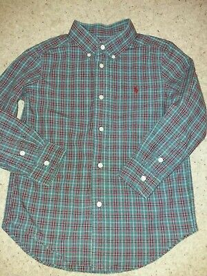 Ralph Lauren Polo Boys Checked Shirt Age 5 Years Worn Once ExUC💙