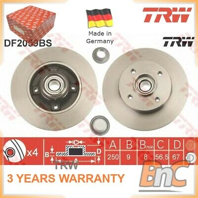 MINTEX REAR DISCS AND PADS 249mm FOR PEUGEOT 207CC 1.6 2007-12