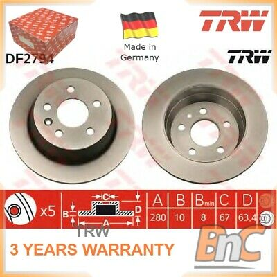 2x REAR BRAKE DISC SET MERCEDES-BENZ V-CLASS 638/2 VITO BUS 638 VITO BOX 638 TRW