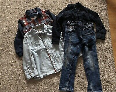 Boys Shirts And Jeans Bundle, Age 3-4 Mamas And Papas, Next, Matalan, Tu